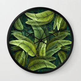 """Retro Tropical Tiki Fantasy 02"" Wall Clock"