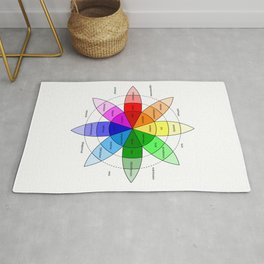 Love and Emotion Valentines Color Wheel Rug