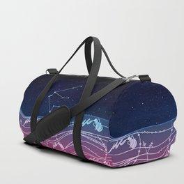 Aquarius Zodiac Constellation Design Duffle Bag