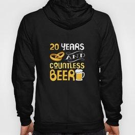 20 Years Wedding Anniversary Gift Countless Beer Lover Hoody
