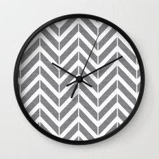 Gray Broken Chevron Wall Clock