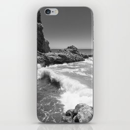 Waves crash along Rancho Palos Verdes coastline iPhone Skin