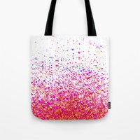 sparkles Tote Bags featuring sparkles by Bunny Noir