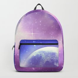 Starry sky background and full moon Backpack