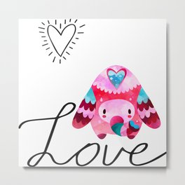 Love Elephant Metal Print