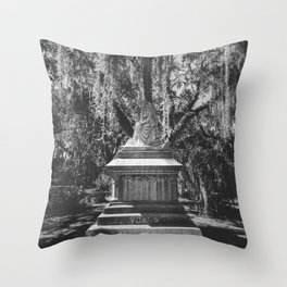 Bonaventure Cemetery Statue Throw Pillow