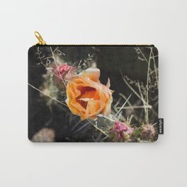 Prickly Pear Cactus Blossom Carry-All Pouch