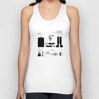 kit king Tank Tops featuring Monster Kit by Graham Dobson