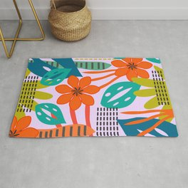 Fresh jungle scene Rug