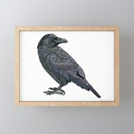 Celtic Raven Framed Mini Art Print