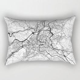 Bern Map Gray Rectangular Pillow