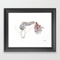 rose shower Framed Art Print