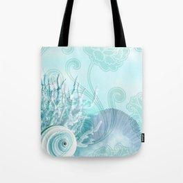 SEASHELL DREAMS   blue Tote Bag