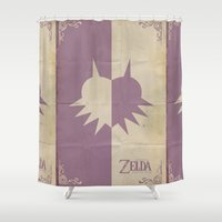 majoras mask Shower Curtains featuring Majoras Mask by cbrucc