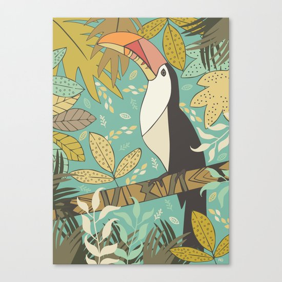 Forest Toucan  Canvas Print