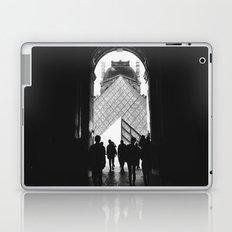 Through to Louvre (b&w) Laptop & iPad Skin