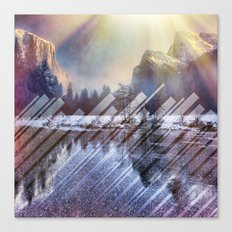 Winter Sun Rays Abstract Nature Canvas Print