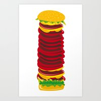 Highest Burger Art Print