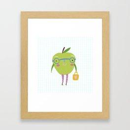 Little Miss Apple Framed Art Print