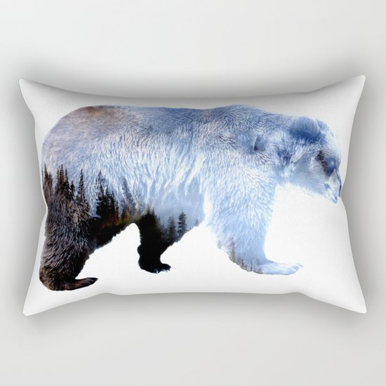 Lazy Bear Rectangular Pillow