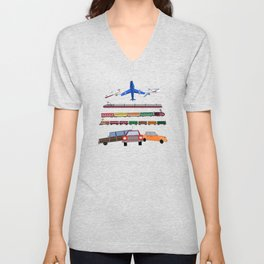 Planes, Trains and Automobiles Unisex V-Neck