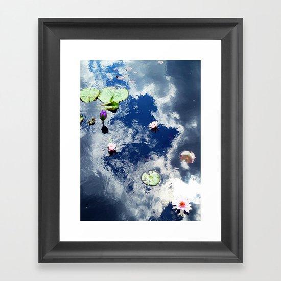 Water Lily Sky Framed Art Print
