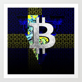 bitcoin sweden Art Print