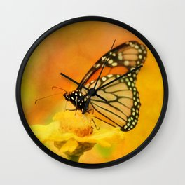 Monarch of Spring Wall Clock