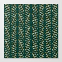 Wheat Grass Teal Canvas Print