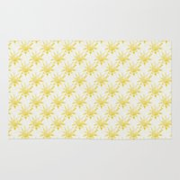 sunshine Area & Throw Rugs featuring Sunshine by Leah Flores