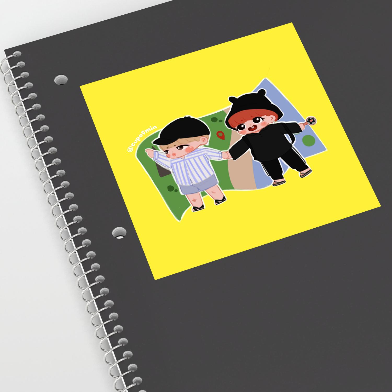 Jikook Bon Voyage Jimin Jungkook Bts Print Sticker By Cupofmin Society6