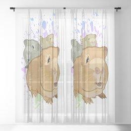 Guinea Pigs Sheer Curtain