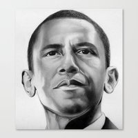 obama Canvas Prints featuring Obama by Emma Porter