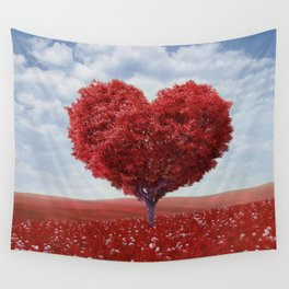 Tree heart Wall Tapestry
