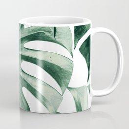 Tropical Monstera Leaves Dream #2 #tropical #decor #art #society6 Coffee Mug