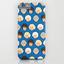 The Golden Girls Blue Pop Art iPhone Case