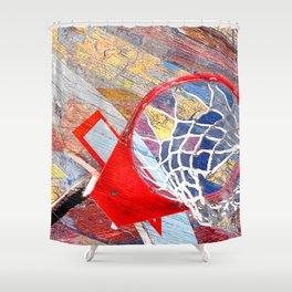 Basketball vs 86 Shower Curtain