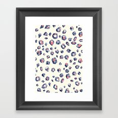 Navy & Coral Crystals Framed Art Print