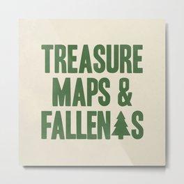 Treasure Maps & Fallen Trees Metal Print