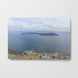 Isle of Eigg viewed from the Isle of Rum Metal Print