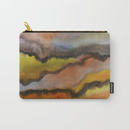 Watercolor abstract landscape 26 Carry-All Pouch