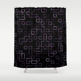 Pink neon mosaic technology pattern Shower Curtain