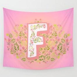 "Princess Monogram ""F"" Wall Tapestry"