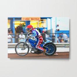 Reading Racers Speedway Motorcycle Action Metal Print