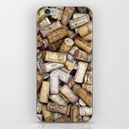 Fine Wine Corks Square iPhone Skin
