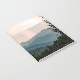 Smoky Mountain Pastel Sunset Notebook