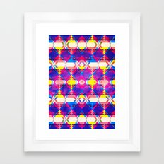 Blue Abstract Diamonate Framed Art Print
