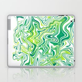 Lime Marbled Agate Slice Laptop & iPad Skin