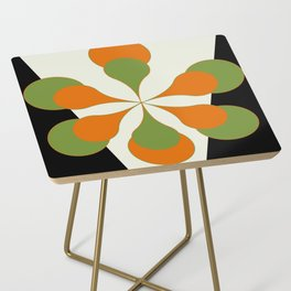 Mid-Century Modern Art 1.4 - Green & Orange Flower Side Table