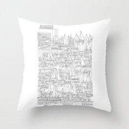 Dun Laoghaire, Ireland Throw Pillow